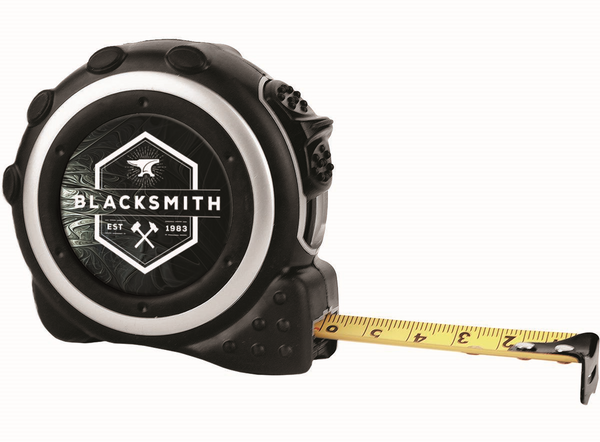 """16-Foot Black & Silver Tape Measure with 1 1/2"""" Insert Area, 1-sided"""
