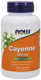 Cayenne 500 mg (by NOF), 100 capsules