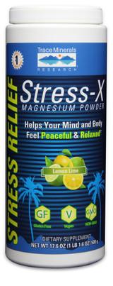 Stress-X Magnesium Powder Lemon Lime, 17.6 oz