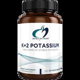K+2 Potassium 300 mg, 120 caps