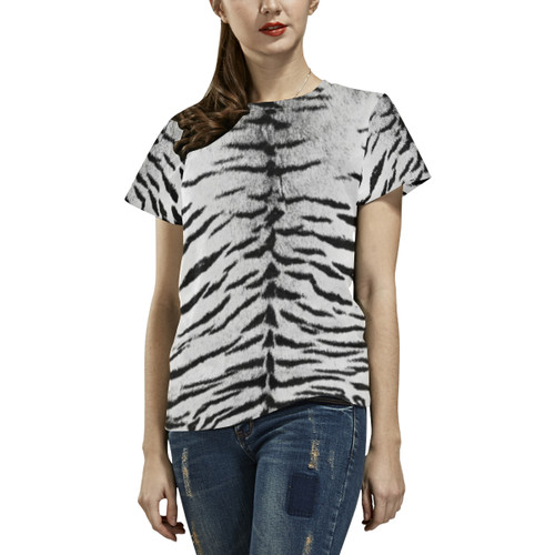 White Bengal Women's All-Over-Print Tee