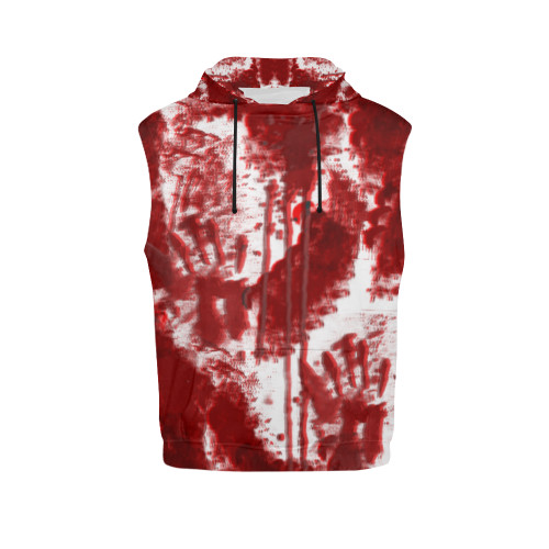 Bloody Mess Womens's All-Over-Print Sleeveless Pullover Hoodie