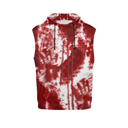 Bloody Mess Men's All-Over-Print Sleeveless Pullover Hoodie