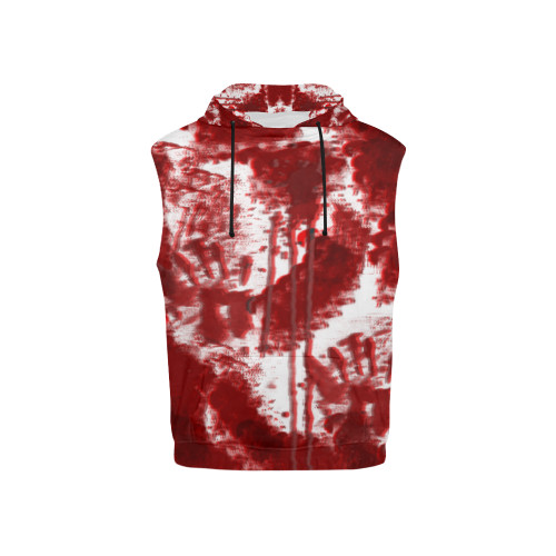 Bloody Mess Kids's All-Over-Print Sleeveless Pullover Hoodie