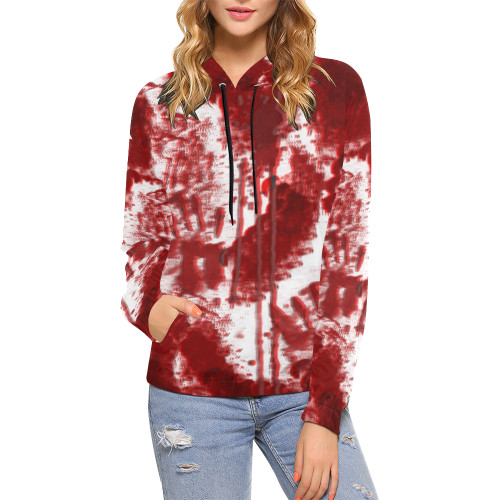 Bloody Mess Women's All-Over-Print Pullover Hoodie