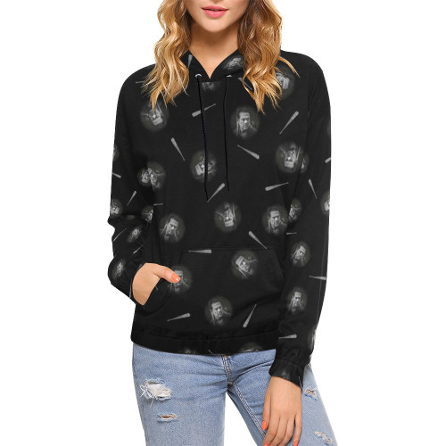 Negan & Lucille 2 Women's All-Over-Print Pullover Hoodie