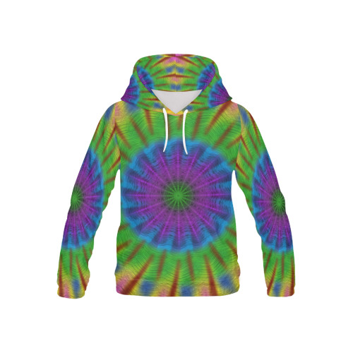 In Plume Kids's All-Over-Print Pullover Hoodie