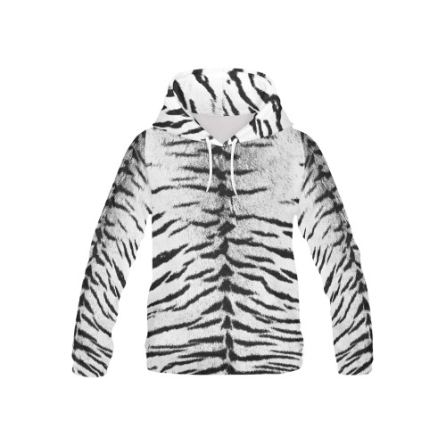 White Bengal Kids's All-Over-Print Pullover Hoodie