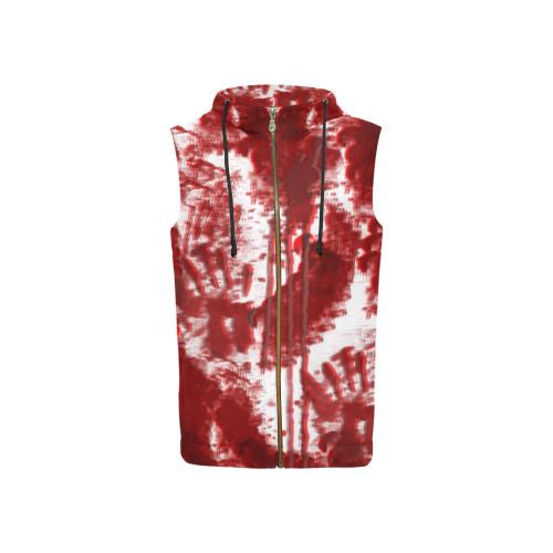 Bloody Mess Women's All-Over-Print Sleeveless Zip Hoodie