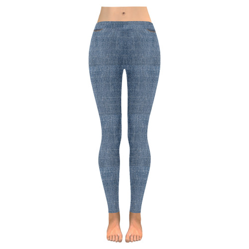 Faux Denim Women's Leggings
