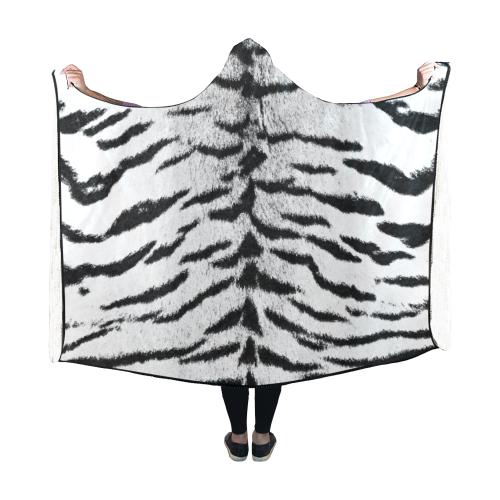 White Bengal Hooded Blanket