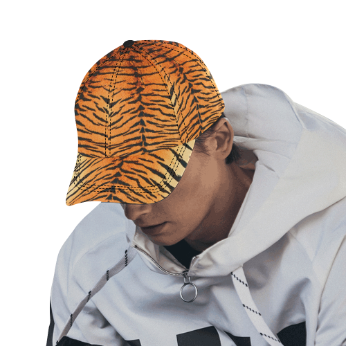 Orange Tiger Dad Cap