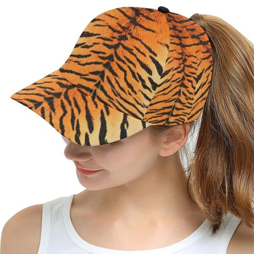Orange Tiger Snapback Cap