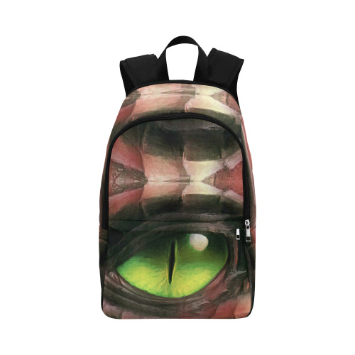 Red Dragon Eye Fabric Adult Backpack