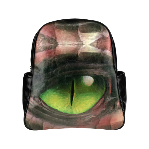 Red Dragon Eye Multi-Pocket Backpack