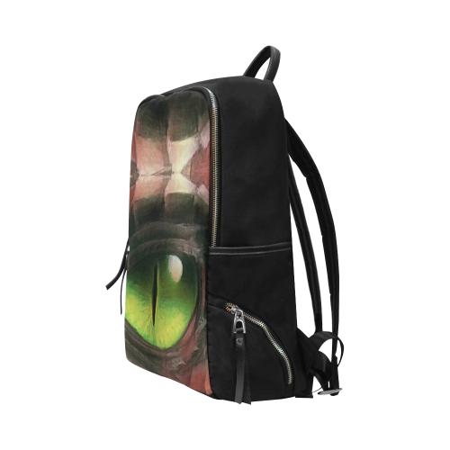 Red Dragon Eye Unisex Slim Backpack