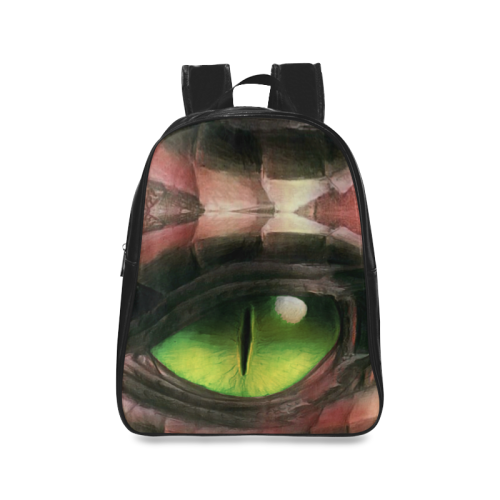 Red Dragon Eye School Backpack