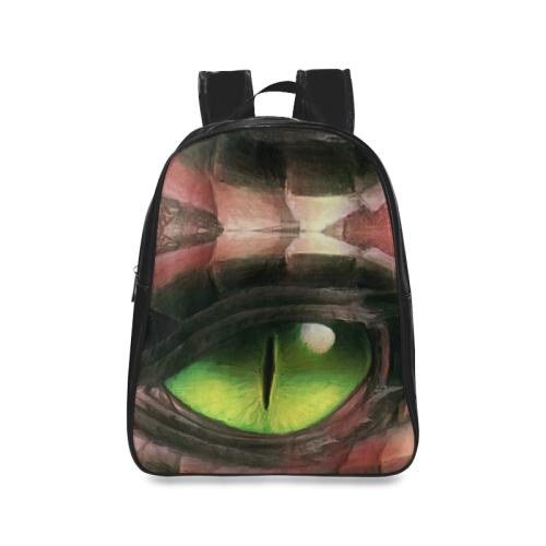 Red Dragon Eye School Backpack