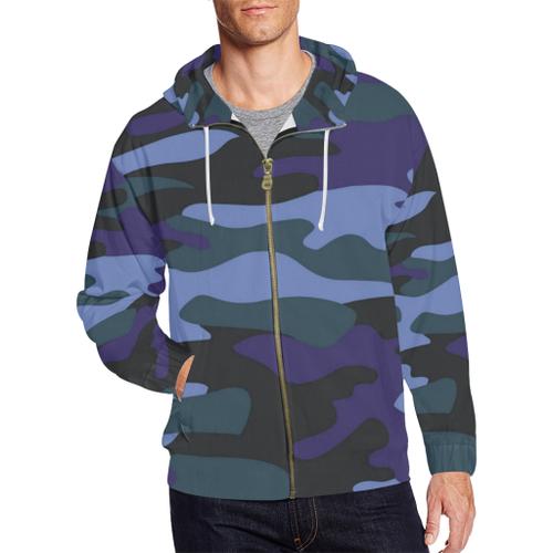 Camo Men's All-Over-Print Zip Hoodie