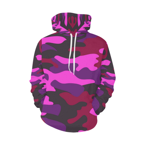 Camo Women's All-Over-Print Pullover Hoodie