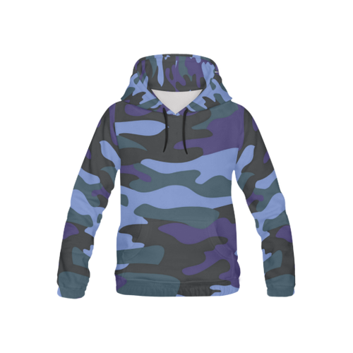Camo Kids's All-Over-Print Pullover Hoodie