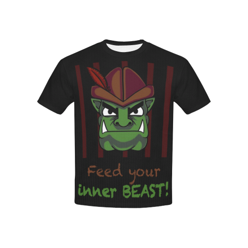 Feed Your Inner Beast Kid's All-Over-Print Tee