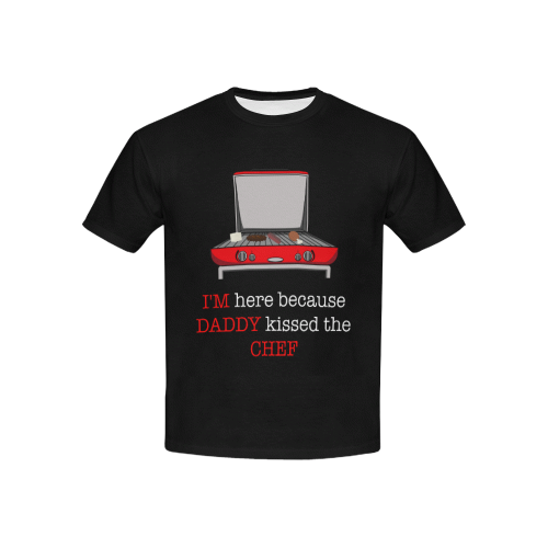 Daddy Kissed the Chef Kid's All-Over-Print Tee
