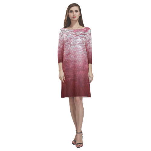 Snakeskin Lake Rhea Loose Round Neck Dress