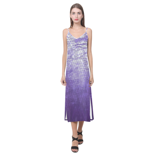 Lake V-Neck Open Fork Long Dress