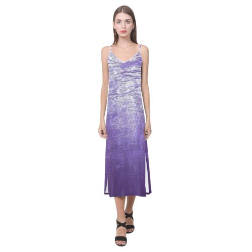 Lake V-Neck Open Fork Long Dress