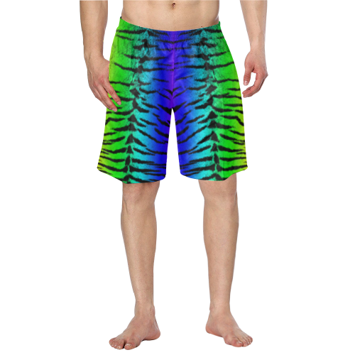 Rainbow Tiger Swim Trunks