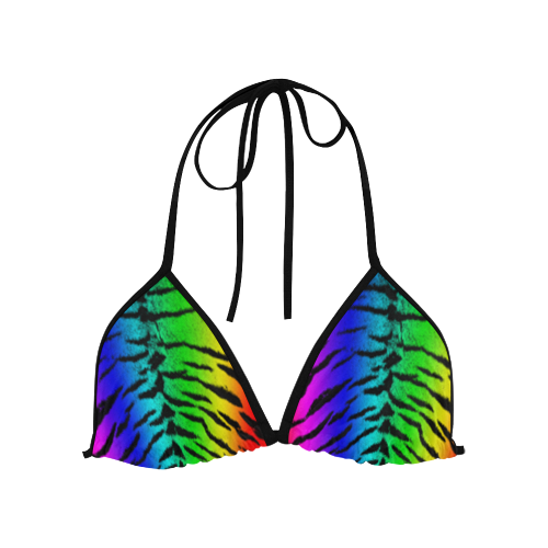 Rainbow Tiger Custom Bikini Top