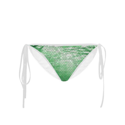 Green Snakeskin Lake Custom Bikini Bottom