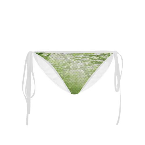 Yellow Snakeskin Lake Custom Bikini Bottom