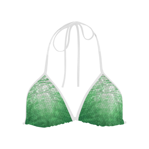 Green Snakeskin Lake Custom Bikini Top