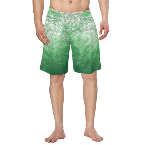Green Snakeskin lake Swim Trunks
