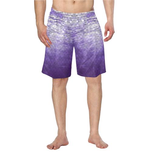 Purple Snakeskin lake Swim Trunks