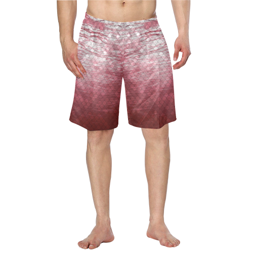 Red Snakeskin lake Swim Trunks