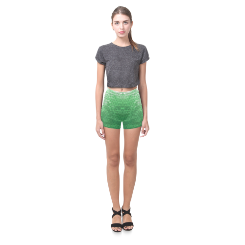 Green Snakeskin Lake Briseis Skinny Shorts