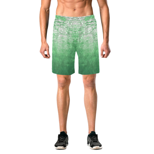 Green Snakeskin Lake Beach Shorts