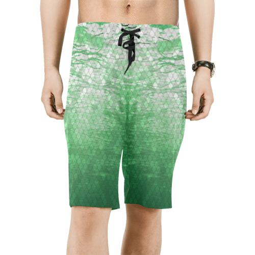 Green Snakeskin Lake Board Shorts