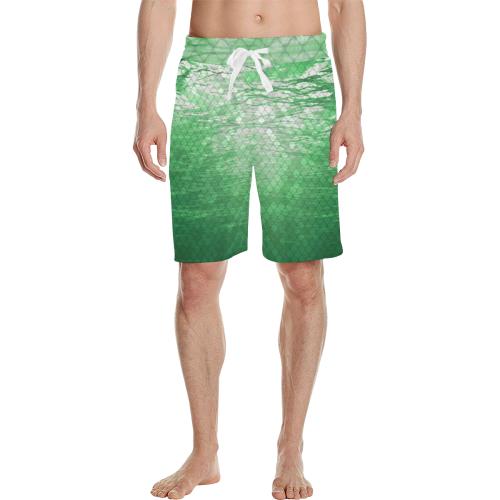 Green Snakeskin Lake Casual Shorts