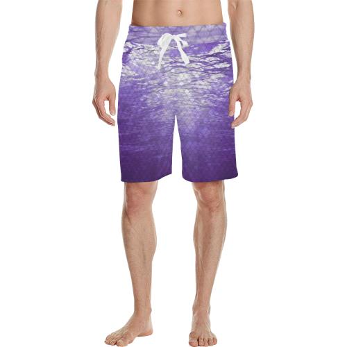 Purple Snakeskin Lake Casual Shorts