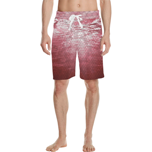 Red Snakeskin Lake Casual Shorts