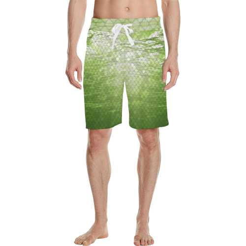 Yellow Snakeskin Lake Casual Shorts