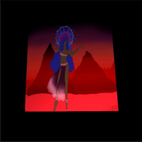 Eclipse Goddess Metal/Canvas Print