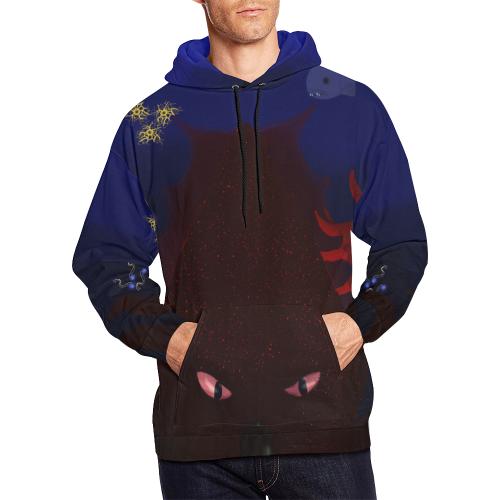 Kraken Men's All-Over-Print Pullover Hoodie