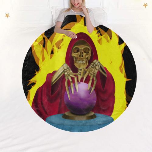 Death Fortune Circular Blanket