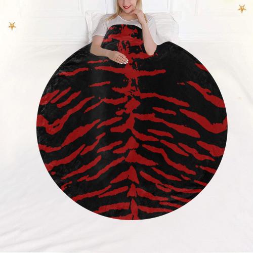 Red Tiger Circular Blanket