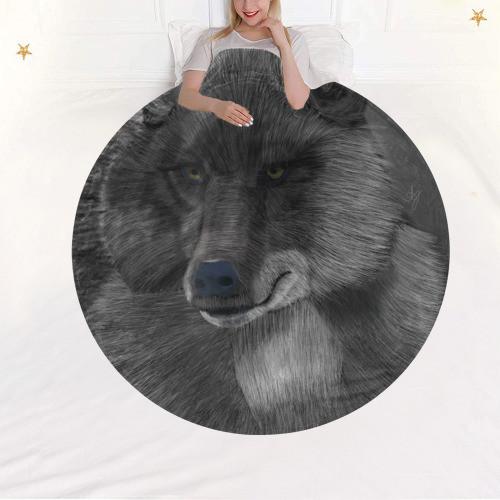 Wolf Moon Circular Blanket